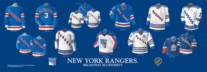 The History And Evolution Of The Rangers Jersey Forever Blueshirts