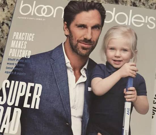 Henrik Lundqvist And Daughter On Cover Of Bloomingdale S Forever