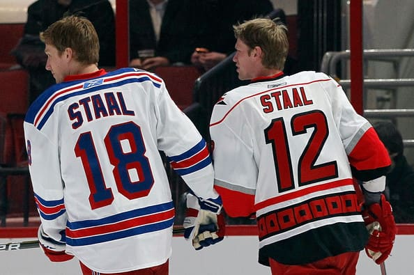Marc and Eric Staal (Getty)