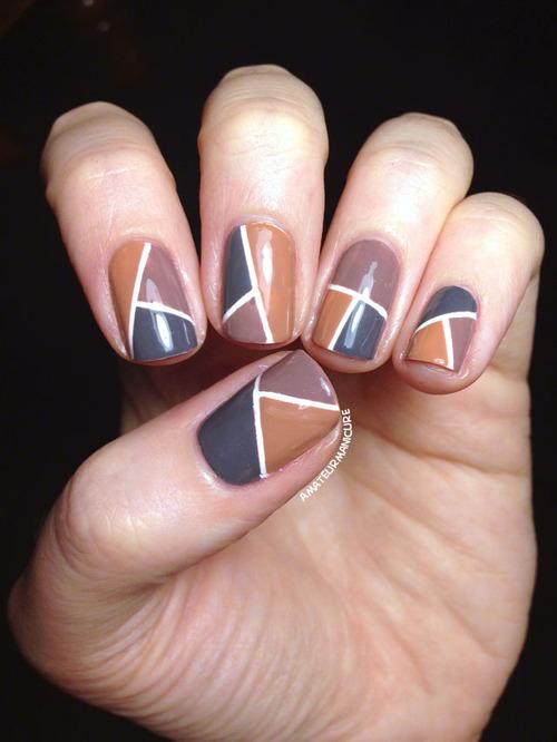 fashionista diy neutral nail art