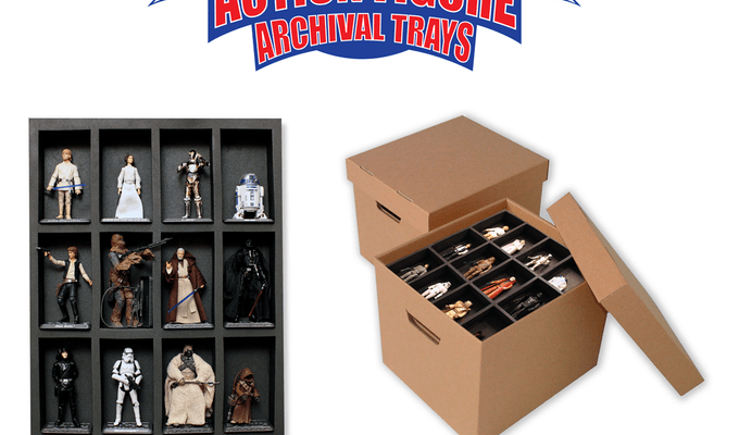 action figure archival trays