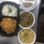 Forever Grateful LLC crawfish étouffée, seasoned rice, green beans w/turkey