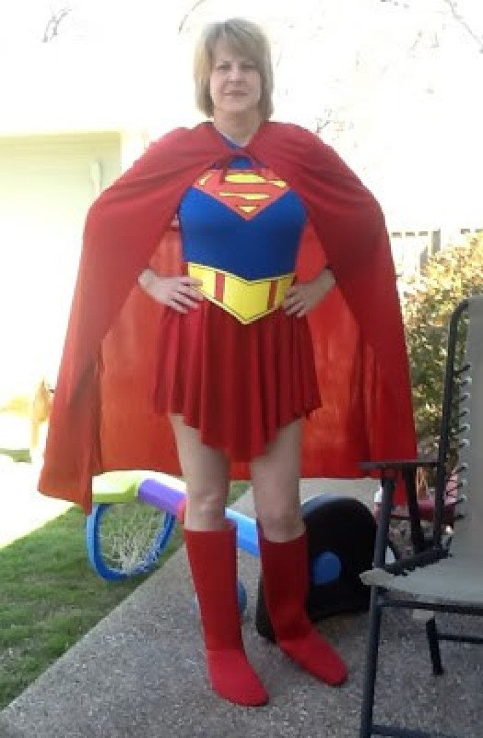 Superhero Superman Supergirl Costume Halloween