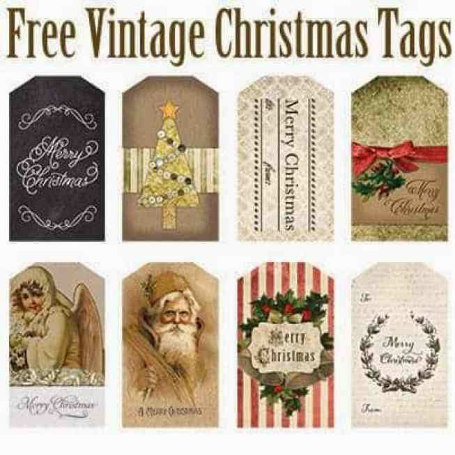 FREE Printable Vintage Inspired Christmas Tags