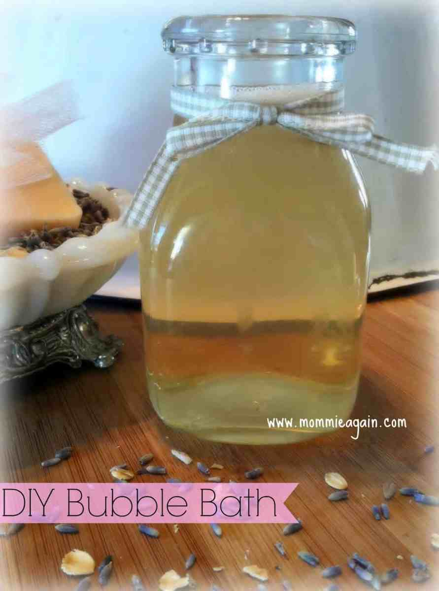DIY Natural Bubble Bath - Only 3 Products Used
