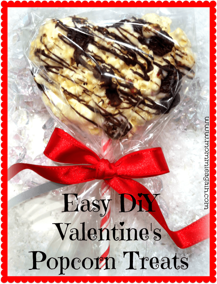 Valentine's DIY Chocolate Cherry Popcorn Treats