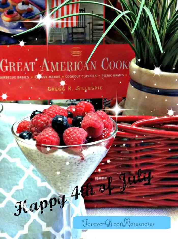 Chia Seed Pudding 4th of July Style