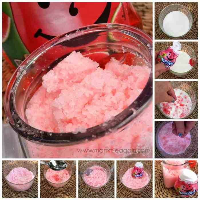 DIY: Kool-Aid Pink Body Sugar Scrub - Only 3 Ingredients