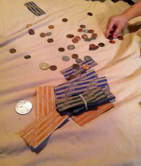 Rolling Coins...A Family Activity