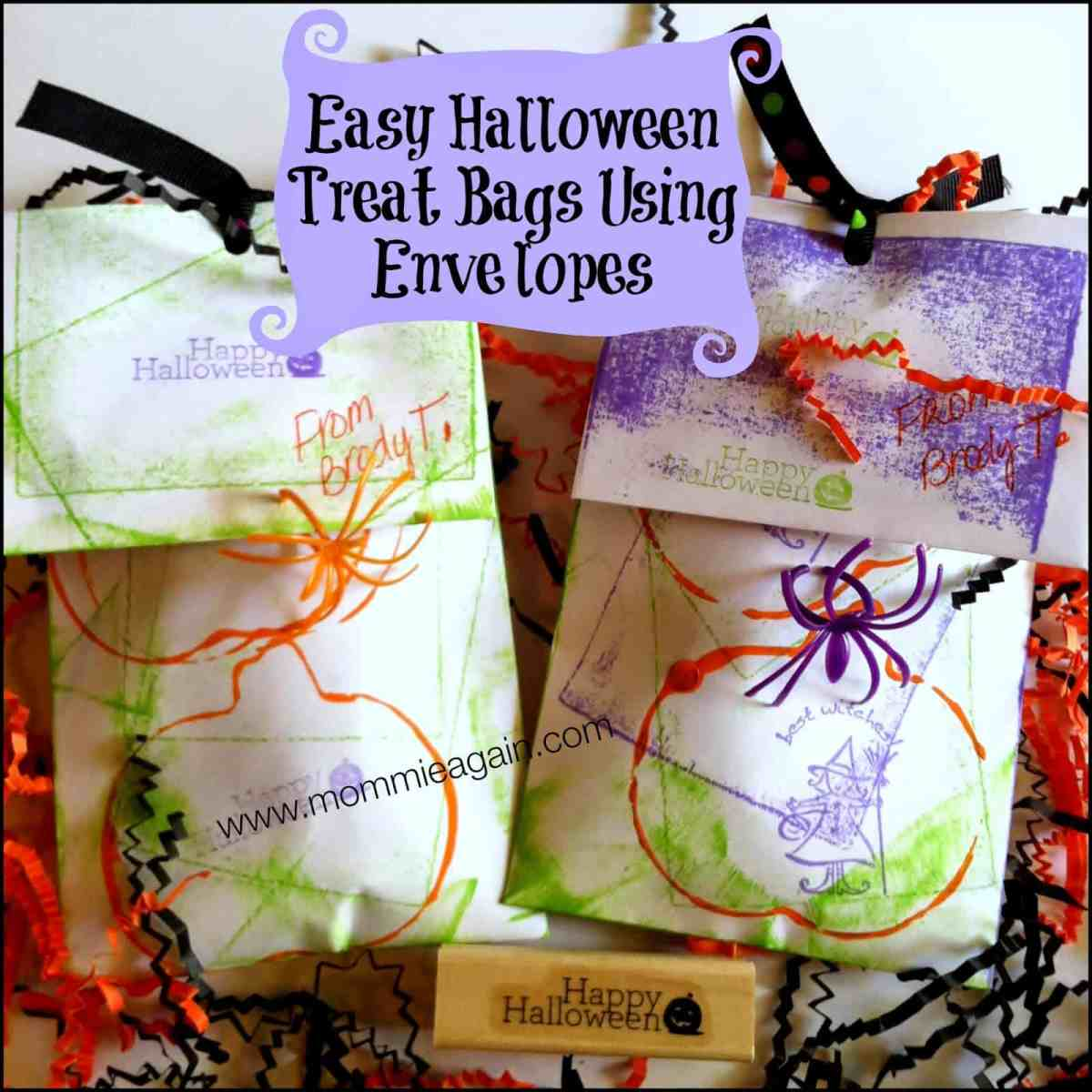 Easy Halloween Treat Bag for Preschoolers & Toddlers