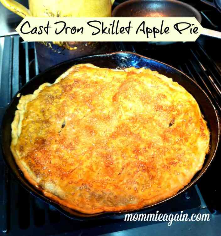 My Husband's Easy Cast Iron Skillet Apple Pie