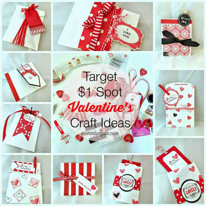 9 DIY Valentine's Treat Bag Ideas using Target $1 SPOT Supplies