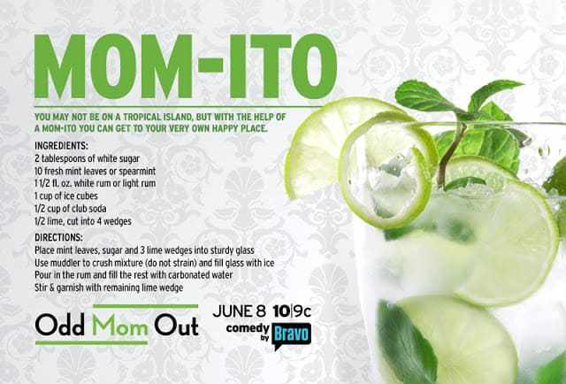 Alcohol beverage Recipe for a mint margarita with glass filled with a lime and mint in it.