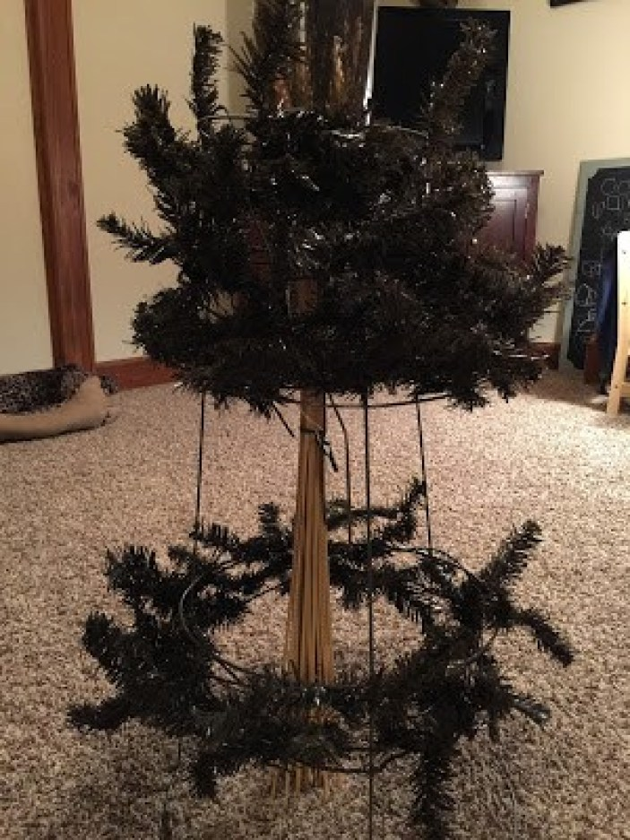 My DIY Sparkly Halloween Tree