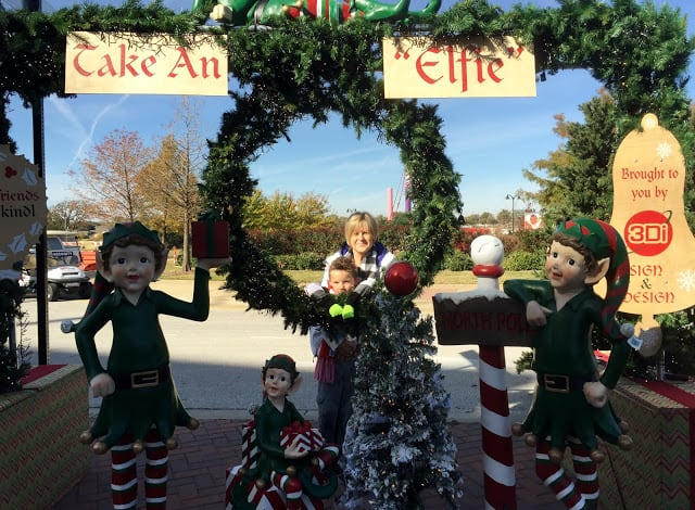 Taking an Elfie - not a selfie at the TX ChristKindl German Market in Arlington TX