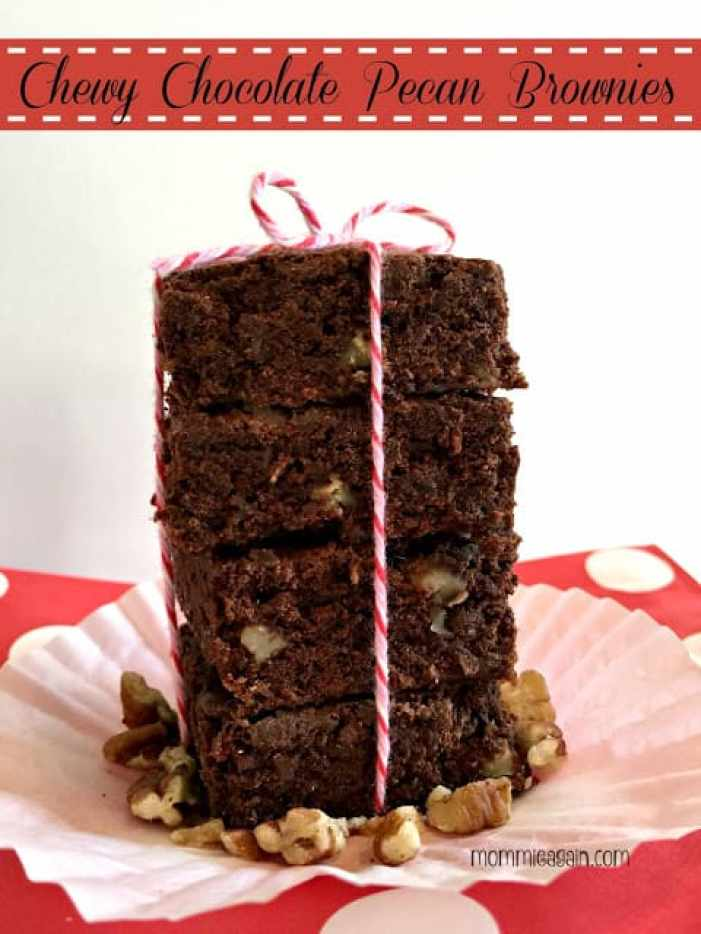 Chewy Chocolate Pecan Brownies {A Healthier Version}