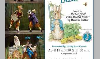 Special Price for Peter Rabbit Tales Musical Irving, TX April 13th