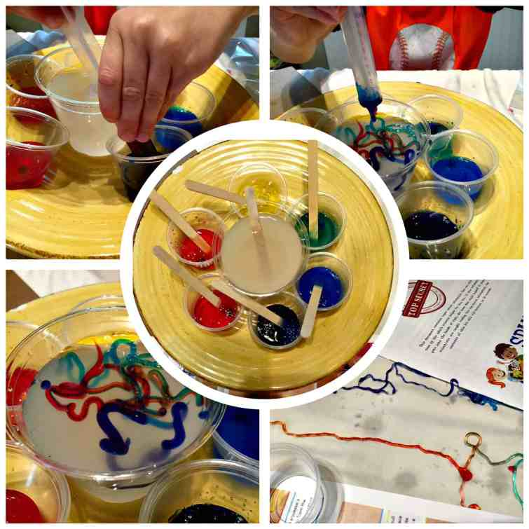 Spangler Science Club monthly subscription box - making rainbow worms