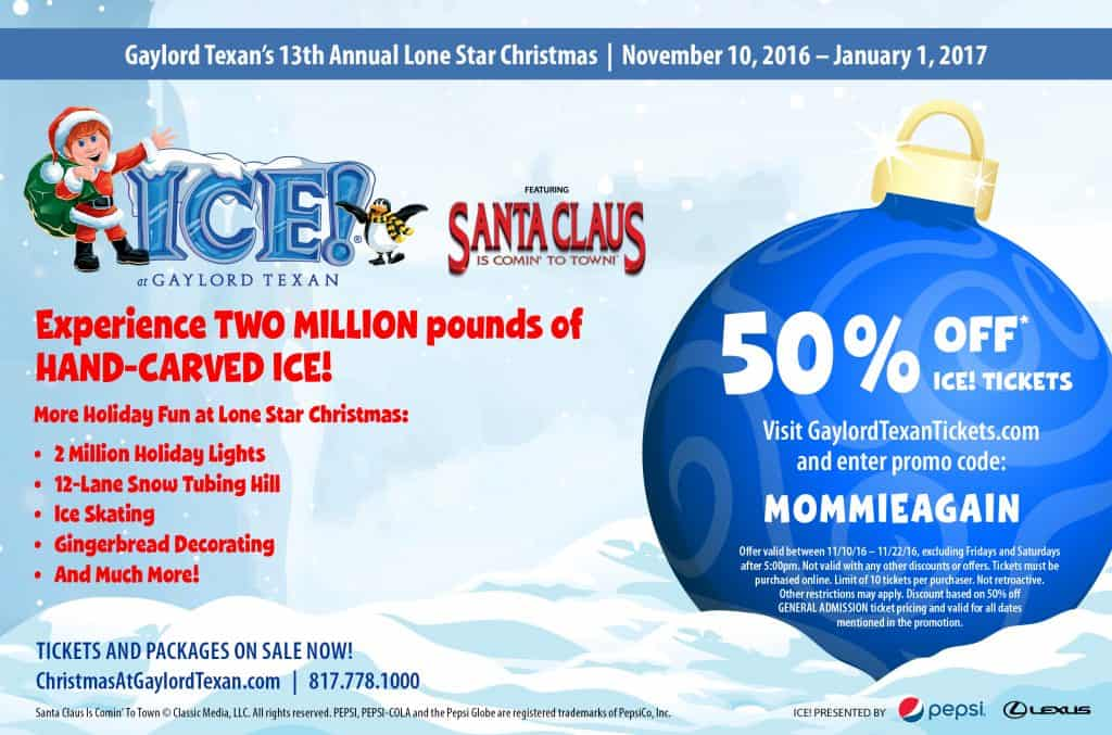 Lone Star Christmas ICE Gaylord TEXAN 50% off Coupon
