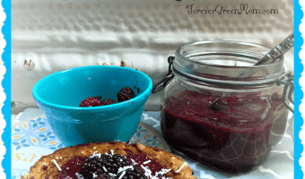 Healthy Tasty Raw Blackberry Jam