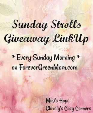 SUNDAY STROLL GIVEAWAY LINKUP 8/20/17