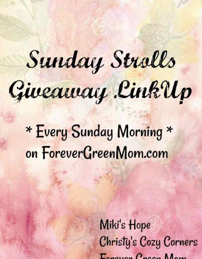 Bloggers - linkup your giveaways here - SUNDAY STROLL GIVEAWAY LINKUP 9/10/17 - and everyone and anyone can enter them!!! #WIN