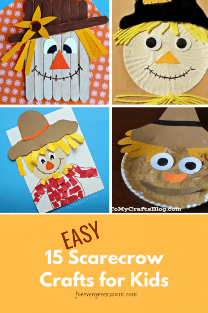 15 EASY Scarecrow Crafts for Kids
