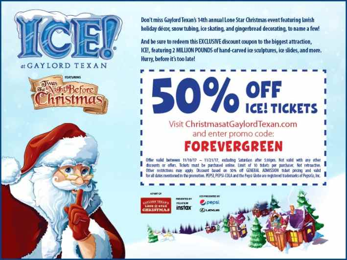 Gaylord Texan's Lone Star Christmas Exclusive 50% off ICE! Tickets