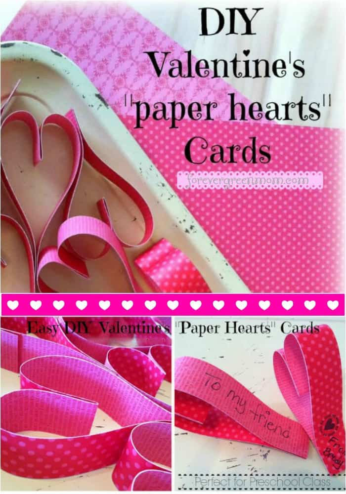Paper Hearts Valentine's Cards you and your Pre-schooler can make at home!