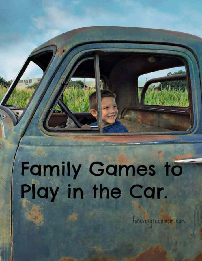Family Games to Play in the Car