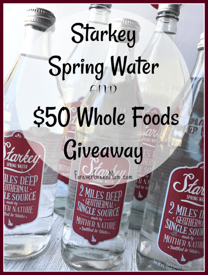 Starkey Spring Water Giveaway +$50 Whole Foods GC