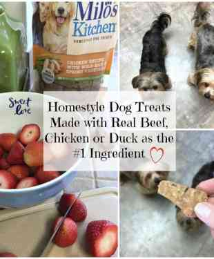 Homestyle Dog Treats Made with Real Beef, Chicken or Duck as the #1 Ingredient