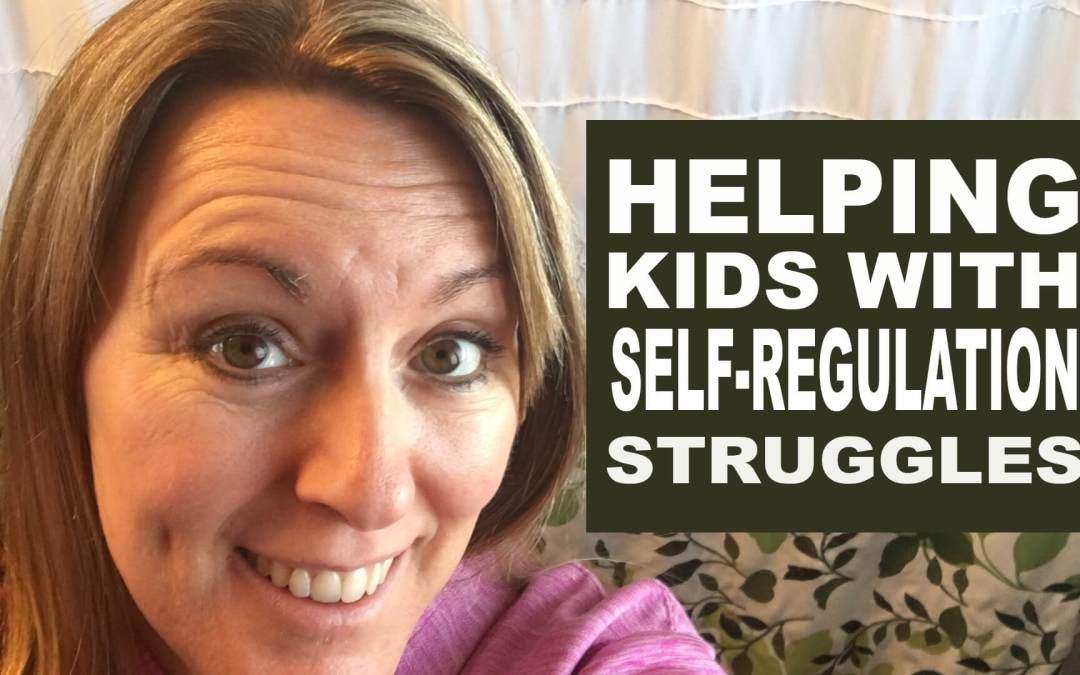 Helping kids with self regulation struggles
