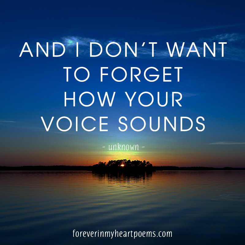 And I don't want to forget how your voice sounds