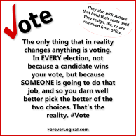 #Vote! In EVERY election, they ALL matter.