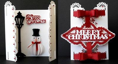 SVG File Template Snowman 3D Card 446