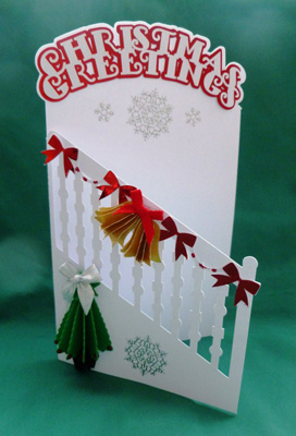 SVG File Template Christmas 3D Tree Door Card 244