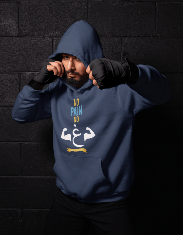 hoodie mockup of a man shadowboxing 26249 3