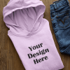 mockup of a pullover hoodie surrounded by boy clothes 33876 1