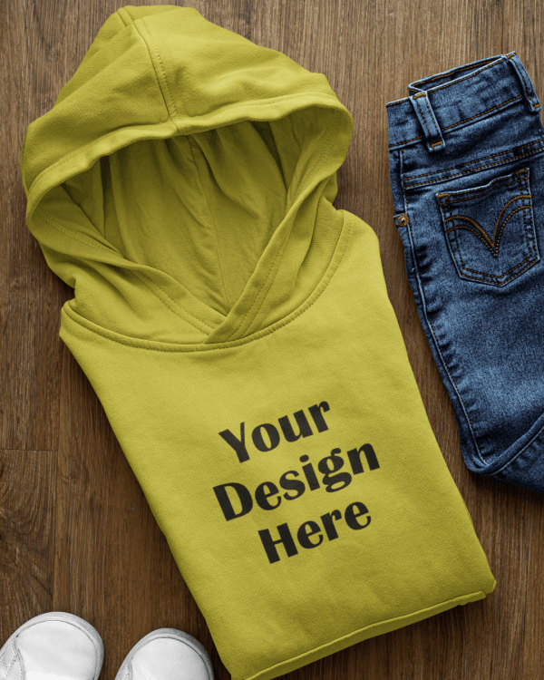 mockup of a pullover hoodie surrounded by boy clothes 33876 2