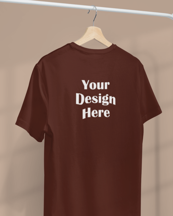 minimal apparel mockup featuring a customizable t shirt hanging from a clothing rack 3733 el1