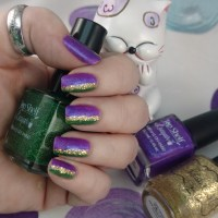 Mardi Gras Mani with Top Shelf Lacquer and Polish M