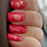 Sally Hansen Extreme Wear over Top Shelf Lacquer Red Hot Valentine