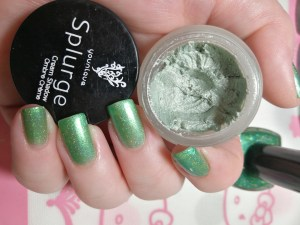Splurge eye shadow in Charming and Top Shelf Lacquer Let the Evening Be Gin!