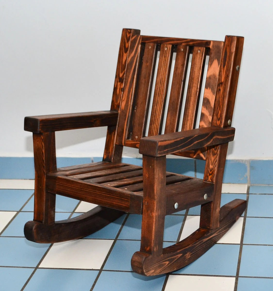 Child Wooden Rocking Chair Kids Wooden Rocking Chair Sturdy Redwood Kids Chair