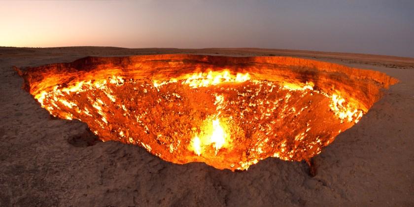 must see travel destinations-Kazakhstan-door to hell