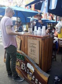 Dave grabbing a beer in La Boca
