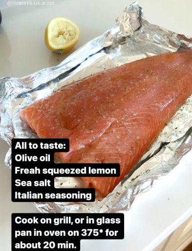 salmon with seasonings