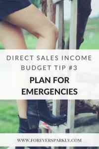 Budget Tip for Direct Sellers with Inconsistent Income. Plan for emergencies and learn how to be prepared. Kristy Empol