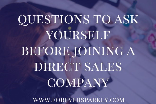 5 Questions to Consider Before Starting Your Direct Sales Journey